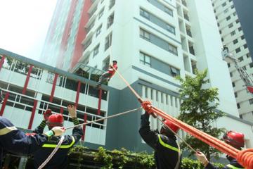 Diễn tập phòng cháy chữa cháy tại chung cư The One Residence – Gamuda Gardens